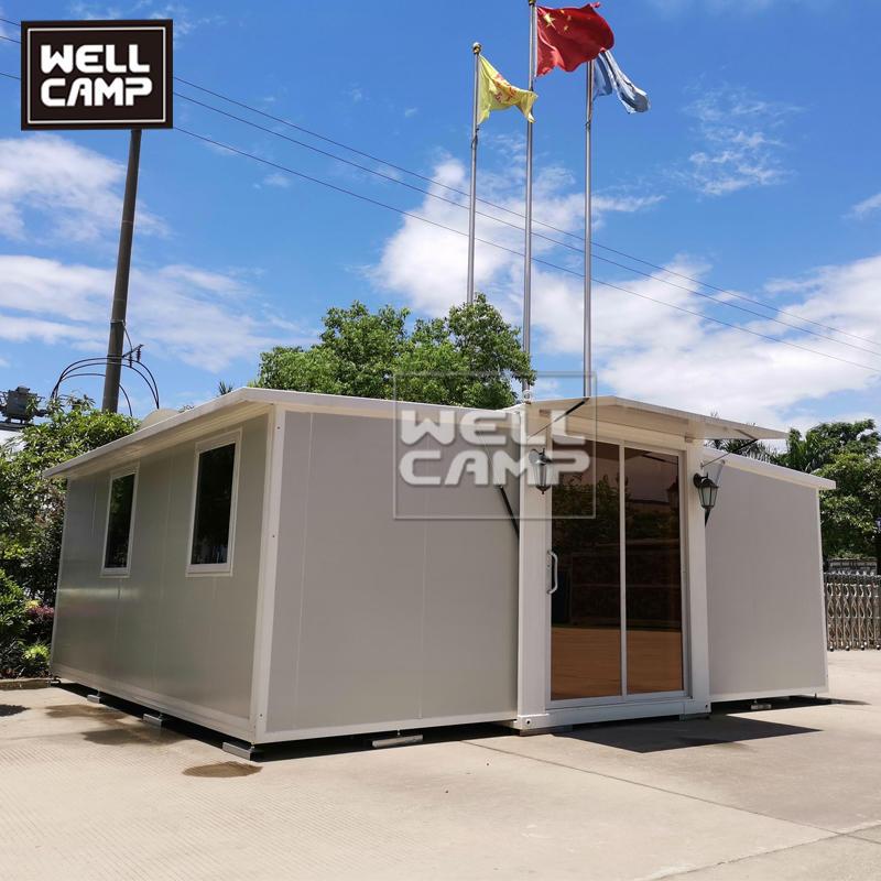 豪华预制两房一卫展开式集装箱房,E-5