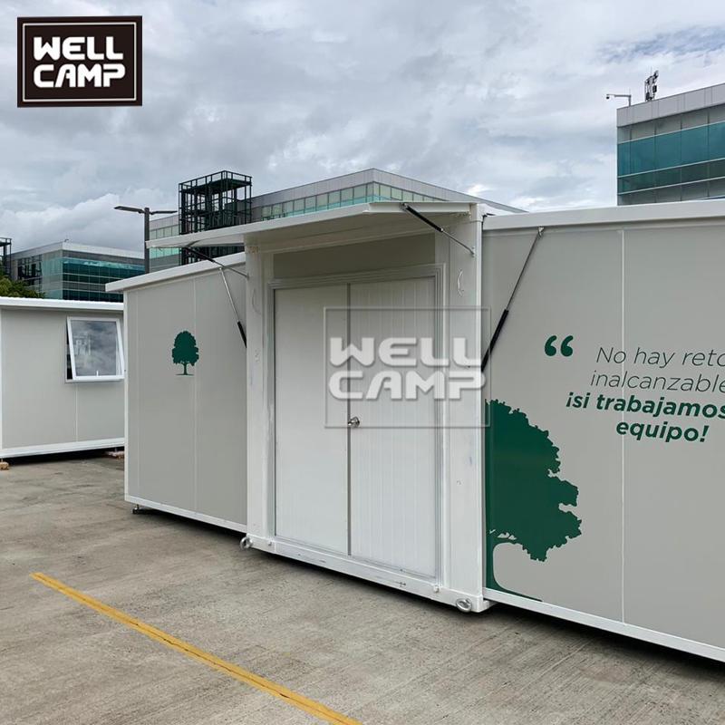 wellcamp豪华预制展开式集装箱房屋两房带浴室 E-4